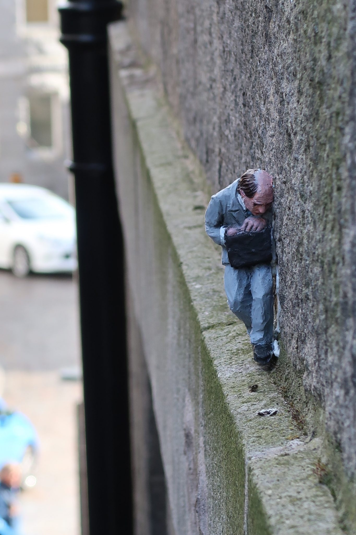 Nuart Aberdeen City Centre Street Art Artist Isaac Cordal Miniature Sculpture