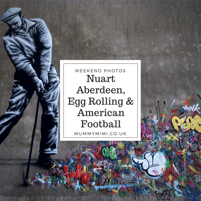 Weekend Photos  Nuart Aberdeen, Egg Rolling & American Football