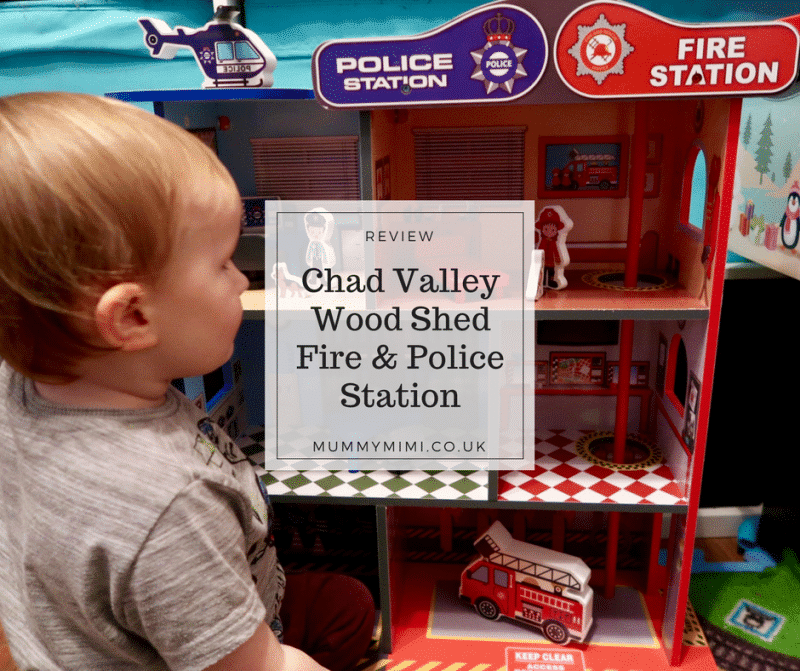 Review   Chad Valley Wood Shed Fire & Police Station Toy