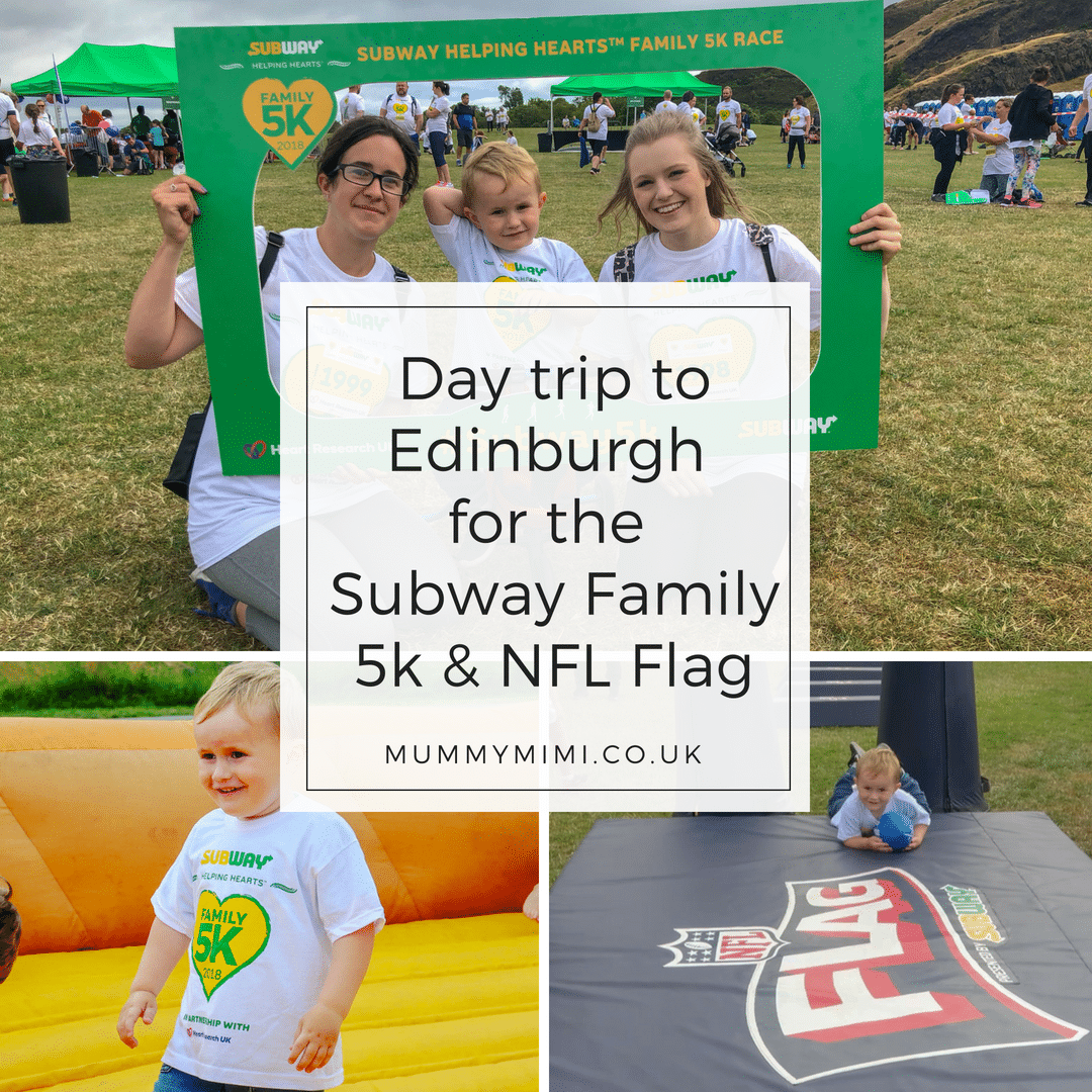 Day trip to Edinburgh for the Subway® Helping Hearts Family 5k & NFL Flag